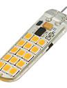 200-300lm G4 LED Bi-pin 조명 T 30 LED 비즈 SMD 2835 밝기조절가능 따뜻한 화이트 차가운 화이트 12V