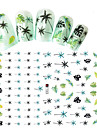 1pcs Fashion Fresh Style Coconut Tree And Leaf Design Decoration Nail Art 3D Stickers DIY Beauty F183