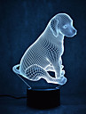 tortues de chien tactile gradation 3d led nuit lumiere 7colorful decoration atmosphere lampe nouveaute eclairage lumiere