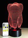 1 ед. Ночные светильники Пульт управления Ночное видение Маленький размер Меняет цвета Художественный LED Модерн