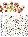 1pcs Fashion Beautiful Butterfly Design Nail Art 3D Stickers Colorful Butterfly Sweet Decoration Nail DIY Beauty F177