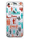 Для Чехлы панели Ультратонкий С узором Задняя крышка Кейс для Плитка Мягкий TPU для AppleiPhone 7 Plus iPhone 7 iPhone 6s Plus iPhone 6