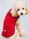 Кошка Собака Свитера Одежда для собак Хлопок Зима Сохраняет тепло Однотонный Красный Синий Костюм Для домашних животных