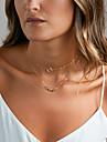 Femme Collier court /Ras-du-cou Collier multi rangs Bijoux Alliage Basique bijoux de fantaisie Bijoux Pour Mariage Soiree Anniversaire