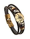 Men\'s Women\'s Chain Bracelet Friendship Vintage Costume Jewelry Leather Round Jewelry For Anniversary Gift Valentine