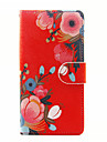 For SONY Xperia X XA Case Cover The Flowers Pattern PU Leather Cases for Xperia M4 Aqua