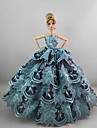 Evening/ Party Dresses in Water Blue For Barbie Doll For Girl\'s Doll Toy