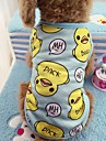 Cat Dog Shirt / T-Shirt Vest Dog Clothes Casual/Daily Animal Blushing Pink Blue Duck