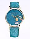 Жен. Модные часы Кварцевый Кожа Группа На каждый день Черный Белый Синий Красный Коричневый Зеленый Желтый