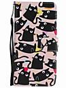 모토로라 모토 g5 플러스 g5 케이스 커버 카드 지갑 지갑 스탠드 플립 패턴 전신 케이스 고양이 하드 pu 가죽