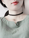 Women\'s Choker Necklaces Jewelry Single Strand Lace Alloy Basic Unique Design Classic Jewelry ForBirthday Daily Casual Outdoor Office &