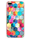 Capinha Para Apple iPhone X iPhone 8 Estampada Capa traseira Estampa Geometrica Macia TPU para iPhone X iPhone 8 Plus iPhone 8 iPhone 7