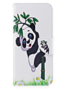 For Samsung Galaxy S8 S8 Plus Case Cover Panda Pattern PU Material Card Stent Wallet Phone Case Galaxy S7 S6 edge
