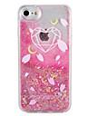 Case  for Apple iPhone 7 7 Plus Heart Geometric Pattern Glitter Shine  Flowing  Liquid Pattern Hard  PC  6s Plus 6 plus 6s 6