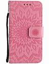 케이스 제품 LG LG의 K4 LG 넥서스 5 배 LG의 K7 카드 홀더 지갑 스탠드 엠보싱 텍스쳐 전체 바디 케이스 꽃장식 하드 PU 가죽 용 LG V10