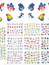 11Design/pcs Hot Fashion Nail Art DIY Beauty Romantic Butterfly 3D Sticker Sweet Design Beautiful Butterfly Colorful Decoration E578-588