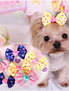 Dog Hair Accessories Dog Clothes Cute Casual/Daily Bowknot Dark Blue Yellow Pink Costume For Pets