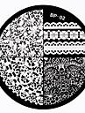 1 Carimbo de Unha Placas molde da imagem Raspador para Carimbo