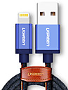 Lightning Braided Quick Charge Cable For iPhone iPad 50 cm ABS TPE