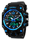 SKMEI 1155 Men\'s Sport Watch LED Digital Watch Digital Alarm Calendar Silicone Band Black