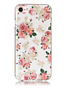 Case For iPhone 5 Apple IMD Pattern Back Cover Flower Soft TPU for iPhone SE/5s iPhone 5