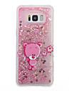 Huelle Fuer Samsung Galaxy S8 Plus S8 Mit Fluessigkeit befuellt Transparent Muster Rueckseite Durchsichtig Glaenzender Schein Cartoon Design