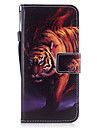 For Samsung Galaxy S8 S8 Plus Case Cover Tiger Pattern Painted PU Skin Material Card Stent Wallet Phone Case S7 S7 Edge