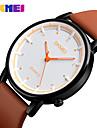 Муж. Нарядные часы Модные часы Японский Кварцевый Защита от влаги Натуральная кожа Группа Кулоны На каждый день Cool Черный Коричневый
