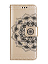 Para iPhone 8 iPhone 8 Plus Case Tampa Carteira Porta-Cartao Com Suporte Flip Estampada Magnetica Com Relevo Corpo Inteiro Capinha Mandala