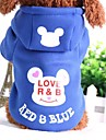 Dog Sweatshirt Dog Clothes Cartoon Black Blue Pink Black/Red Blue/Red Cotton Costume For Pets Casual/Daily