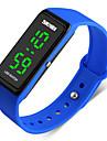 SKMEI Муж. Спортивные часы электронные часы Цифровой PU Группа Черный Синий Красный Зеленый Серый Темно-синий