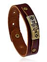 Homme Femme Bracelets en cuir Mode bijoux de fantaisie Cuir Forme Geometrique Bijoux Pour Mariage Soiree Sports