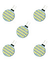 5pcs 2.5W 189lm G4 LED a Double Broches 24 Perles LED SMD 2835 Blanc Chaud Blanc 12V