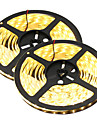 HKV® 1PCS 10M(2x5M) 80W 300LED 5630SMD Waterproof WhiteLight Normal Brightness Flexible LED Light Bar Strip (DC 12V)
