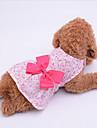 Собака Платья Одежда для собак Бант Лиловый / Синий / Розовый Ткань Костюм Для домашних животных Лето Жен. На каждый день