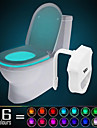 HKV® 1PCS  IP65 16 Colors Motion Activated Toilet Night light Fit Any Toilet-Water-resistant Bathroom Night Light Easy Clean -For Midnight Convenie