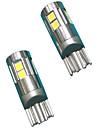 Full Aluminium Material 5W Lens Design T10 Can-bus LED Bulb White Color(2PCS)