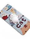 Pour Etuis coque Motif A Faire Soi-Meme Squishy Coque Arriere Coque Chat Bande dessinee Flexible PUT pour AppleiPhone 7 Plus iPhone 7