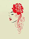 Autocolantes de Parede Decorativos - Adesivos de parede de pessoas Pessoas / Moda / Floral Sala de Estar / Quarto / Banheiro