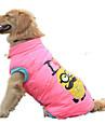 Cachorro Colete Jaquetas de Penas Roupas para Caes Casual Desenhos Animados Amarelo Rosa claro Ocasioes Especiais Para animais de