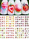 12pcs Стикер / Компоненты для самостоятельного изготовления / Женская униформа Шаблон шаблона для ногтей Повседневные Мода