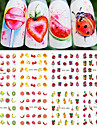 12Styles/set Summer Hot Fashion DIY Beauty Creative Lovely Fruit Ice Cream Design Nail Art Water Transfer Decals STZ489-500