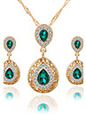 Women\'s Crystal Jewelry Set - Crystal, Rhinestone Drop Luxury, Dangling Style, Fashion Include Necklace / Earrings Bridal Jewelry Sets Red / Green / Blue For Wedding Party Special Occasion