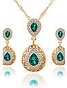 Femme Set de Bijoux Collier / Boucles d\'oreilles Nuptiales Parures Cristal Strass Pendant euroamericains Bijoux de Luxe Mariee bijoux de