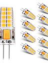 BRELONG® 10pcs 2W 300lm G4 LED-lamper med G-sokkel T 20 LED perler SMD 2835 Varm hvit Hvit 12V