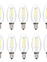 2W E14 LED Filament Bulbs C35 2 leds COB Decorative Warm White White 200lm 2700-3200 6000-6500K AC 220-240V