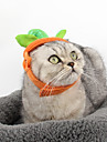 Cat Dog Bandanas & Hats Dog Clothes Cosplay Halloween Solid Orange Costume For Pets