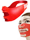 주름 완화 탄력 재생&스킨 광택 슬리밍 스킨 리프팅 얼굴 혈액순환과 안티 에이징에 도움 얼굴 얇은 만들기 마스크 벨트 휴대용 노블티 마사지 안전 실리콘 매뉴얼