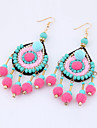 Women\'s Oversize Drop Earrings Euramerican Fashion Bohemian Alloy Round Jewelry For Party