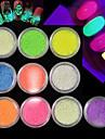 Meisjes & jonge vrouwen / Glow in the dark / 3D Klassiek Nail Art Design Dagelijks